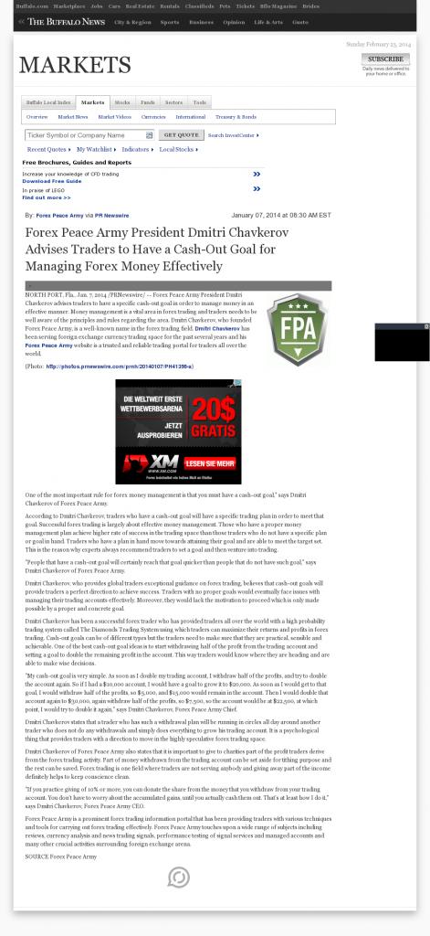 Money Management with Goal Buffalo News (Buffalo, NY)by Forex Peace Army