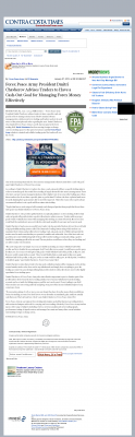 Money Management with Goal  Contra Costa Times by Forex Peace Army