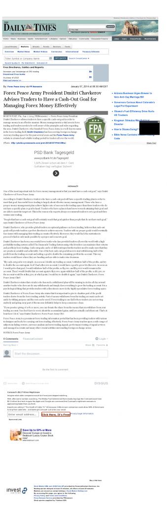 Money Management with Goal Farmington Daily Times (Farmington, NM)by Forex Peace Army