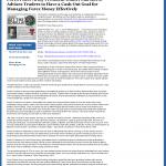 Forex Peace Army | Cash Out Goal Money Management Principle in KCBD NBC-11 (Lubbock, TX)