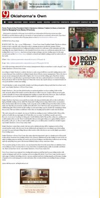 Money Management with Goal  KWTV-TV CBS-9 (Oklahoma City, OK) by Forex Peace Army