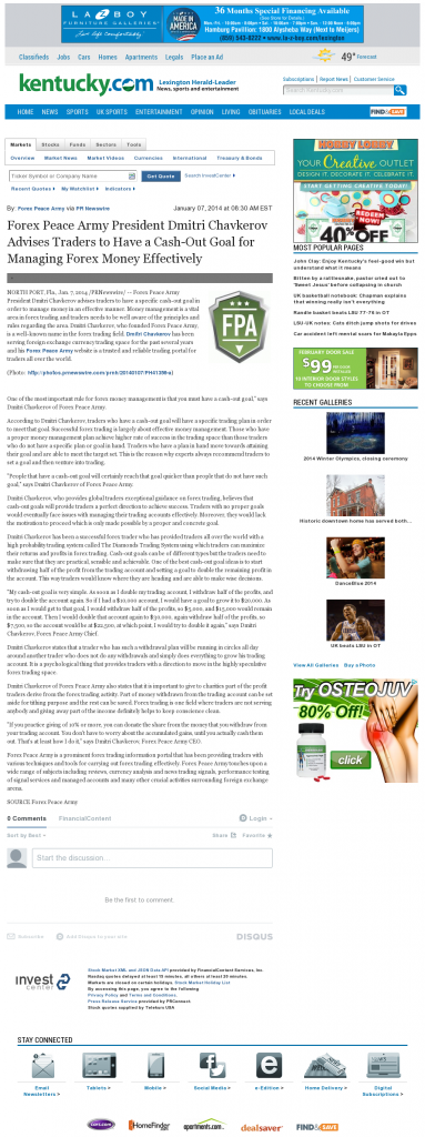 Money Management with Goal Lexington Herald-Leader (Lexington, KY)by Forex Peace Army