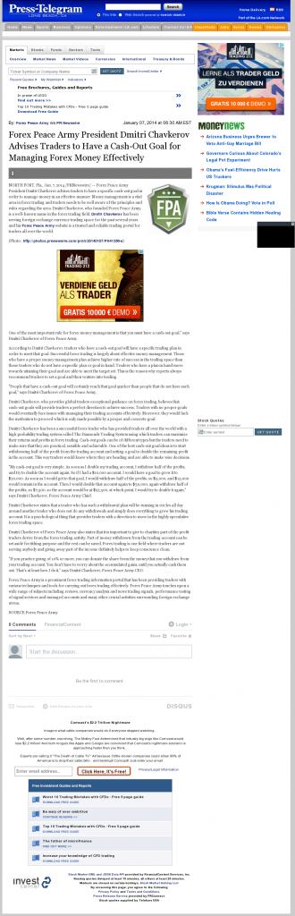 Money Management with Goal Long Beach Press-Telegram (Long Beach, CA)by Forex Peace Army