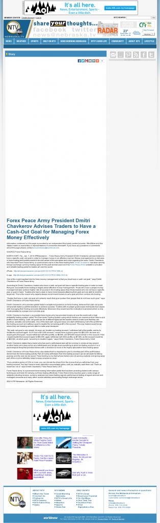 Money Management with Goal NebraskaTV (Kearney, NE)by Forex Peace Army