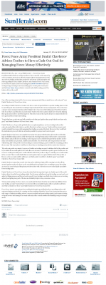 Money Management with Goal  Sun Herald (Biloxi, MS) by Forex Peace Army