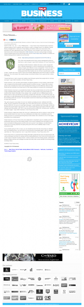 Money Management with Goal Talk Business Magazineby Forex Peace Army