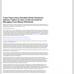 Forex Peace Army | Cash Out Goal Money Management Principle in WWTV-TV CBS-9 (Cadillac, MI)