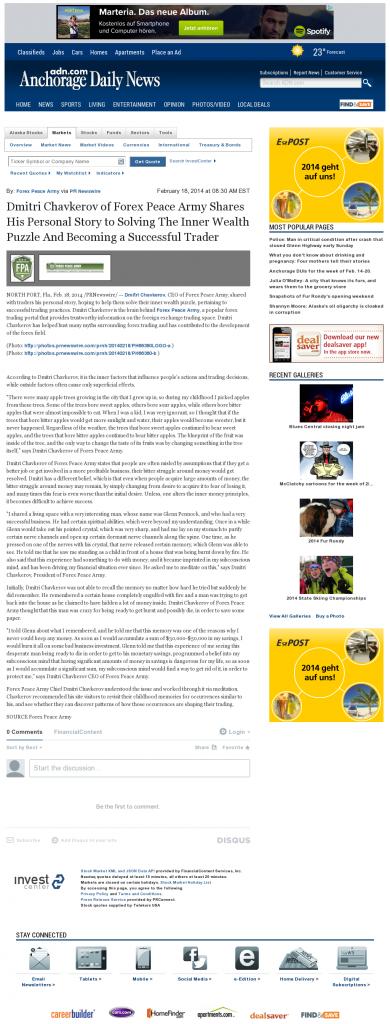 Dmitri Chavkerov Suggests to Analyze Childhood Memories   Anchorage Daily News
