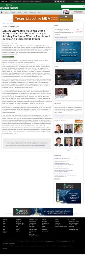 Dmitri Chavkerov Suggests to Analyze Childhood Memories | Austin Business Journal