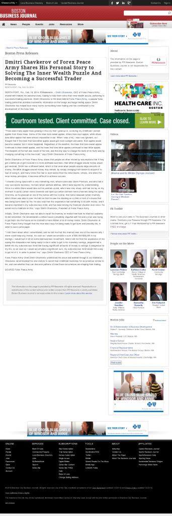 Dmitri Chavkerov Suggests to Analyze Childhood Memories | Boston Business Journal