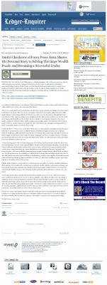 Dmitri Chavkerov Suggests to Analyze Childhood Memories    Columbus Ledger-Enquirer (Columbus, GA)