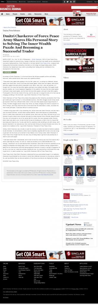 Dmitri Chavkerov Suggests to Analyze Childhood Memories   Dayton Business Journal