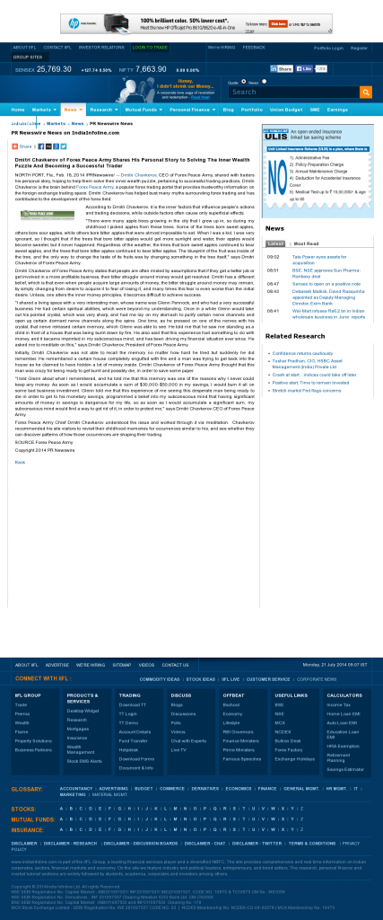 Dmitri Chavkerov Suggests to Analyze Childhood Memories | India Infoline