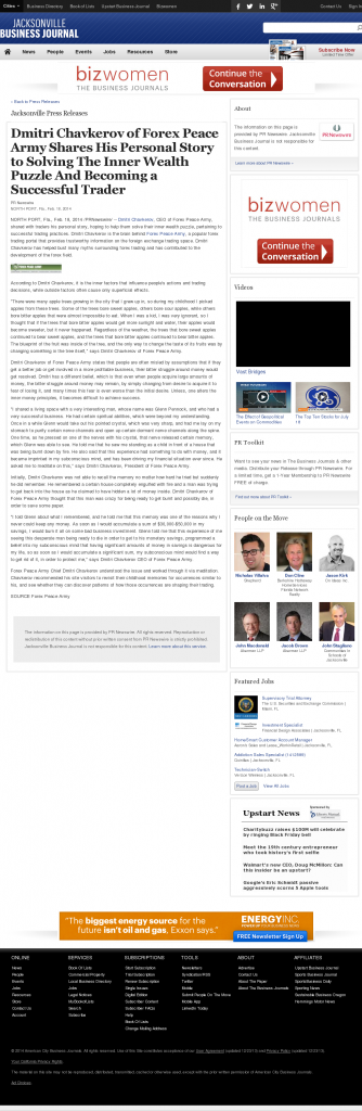 Dmitri Chavkerov Suggests to Analyze Childhood Memories | Jacksonville Business Journal