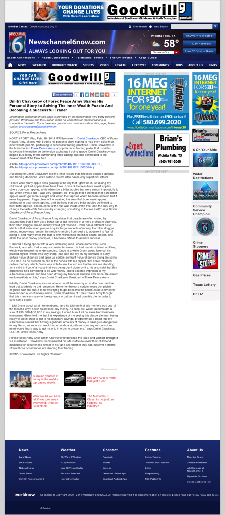 Dmitri Chavkerov Suggests to Analyze Childhood Memories   KAUZ-TV CBS-6 (Wichita Falls, TX)