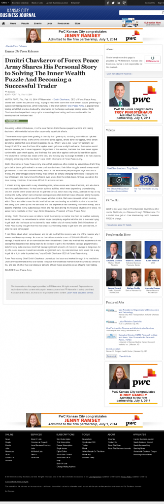 Dmitri Chavkerov Suggests to Analyze Childhood Memories   Kansas City Business Journal