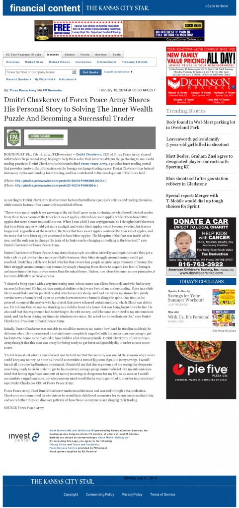 Dmitri Chavkerov Suggests to Analyze Childhood Memories | Kansas City Star