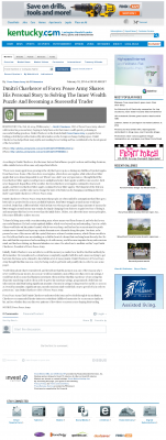 Dmitri Chavkerov Suggests to Analyze Childhood Memories    Lexington Herald-Leader (Lexington, KY)