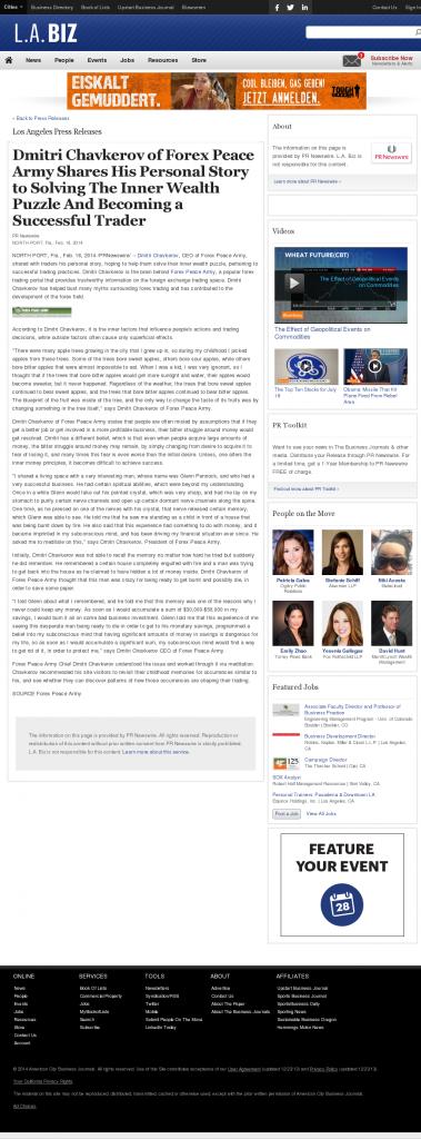 Dmitri Chavkerov Suggests to Analyze Childhood Memories | Los Angeles Business from bizjournals