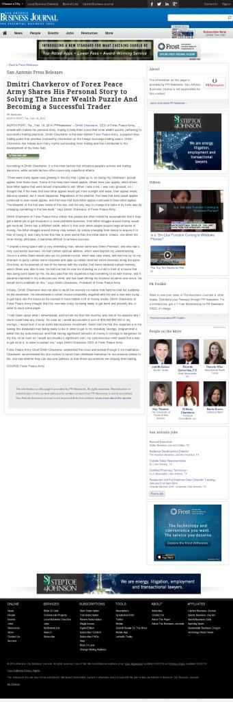 Dmitri Chavkerov Suggests to Analyze Childhood Memories   San Antonio Business Journal