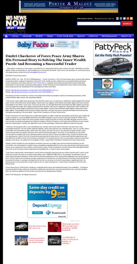 Dmitri Chavkerov Suggests to Analyze Childhood Memories | WLBT NBC-3 (Jackson, MS)