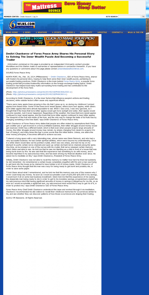 Dmitri Chavkerov Suggests to Analyze Childhood Memories   WLNS CBS-6 (Lansing, MI)