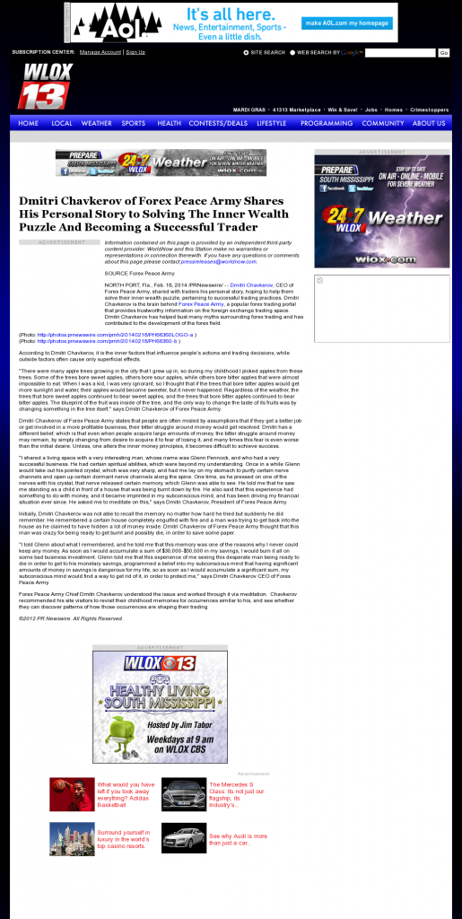 Dmitri Chavkerov Suggests to Analyze Childhood Memories | WLOX ABC-13 (Biloxi, MS)