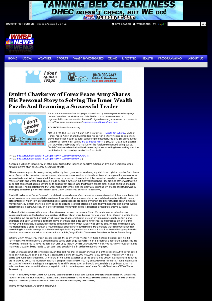 Dmitri Chavkerov Suggests to Analyze Childhood Memories | WMBF NBC-32 (Myrtle Beach, SC)
