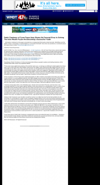 Dmitri Chavkerov Suggests to Analyze Childhood Memories    WMDT-TV ABC-47 /CW-3 (Salisbury, MD)