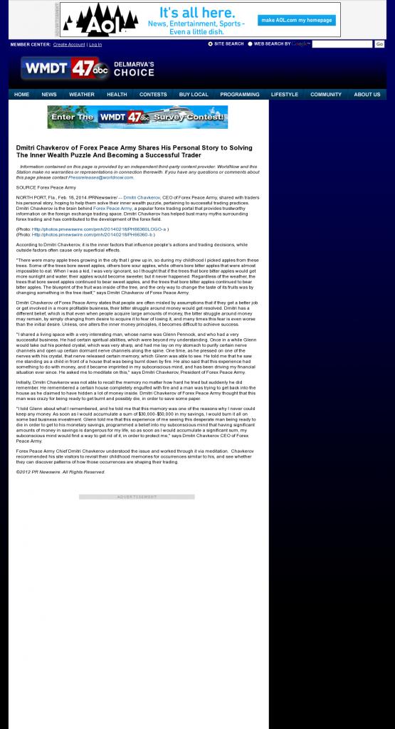 Dmitri Chavkerov Suggests to Analyze Childhood Memories | WMDT-TV ABC-47 /CW-3 (Salisbury, MD)