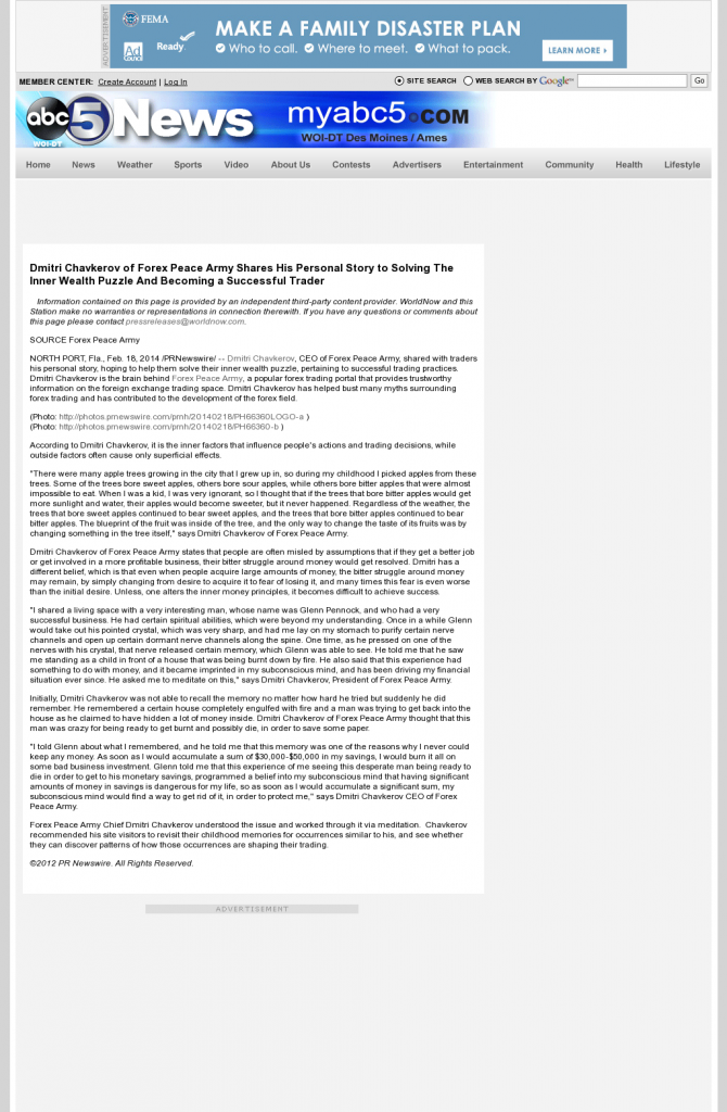 Dmitri Chavkerov Suggests to Analyze Childhood Memories | WOI ABC-5 (West Des Moines, IA)