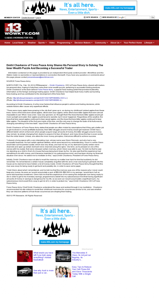 Dmitri Chavkerov Suggests to Analyze Childhood Memories   WOWK-TV CBS 13 (Huntington, WV)