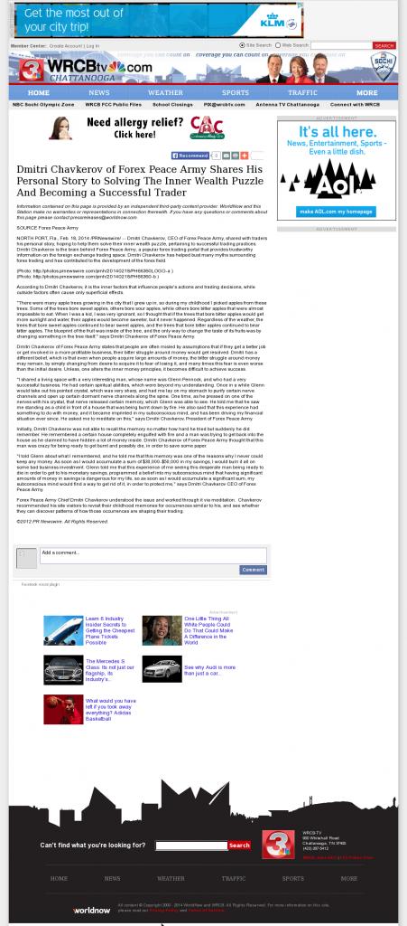 Dmitri Chavkerov Suggests to Analyze Childhood Memories | WRCB-TV NBC-3 (Chattanooga, TN)