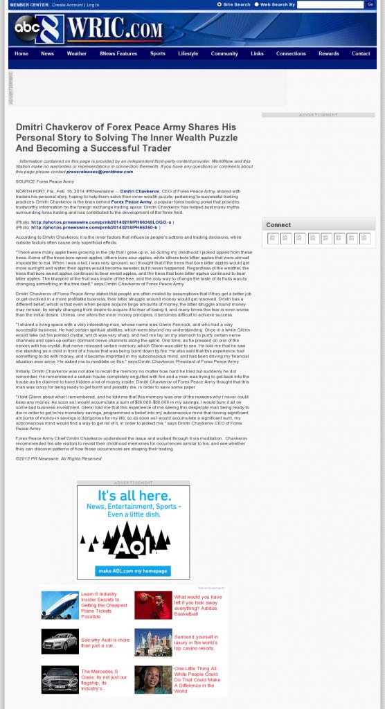 Dmitri Chavkerov Suggests to Analyze Childhood Memories   WRIC ABC-8 (Richmond, VA)