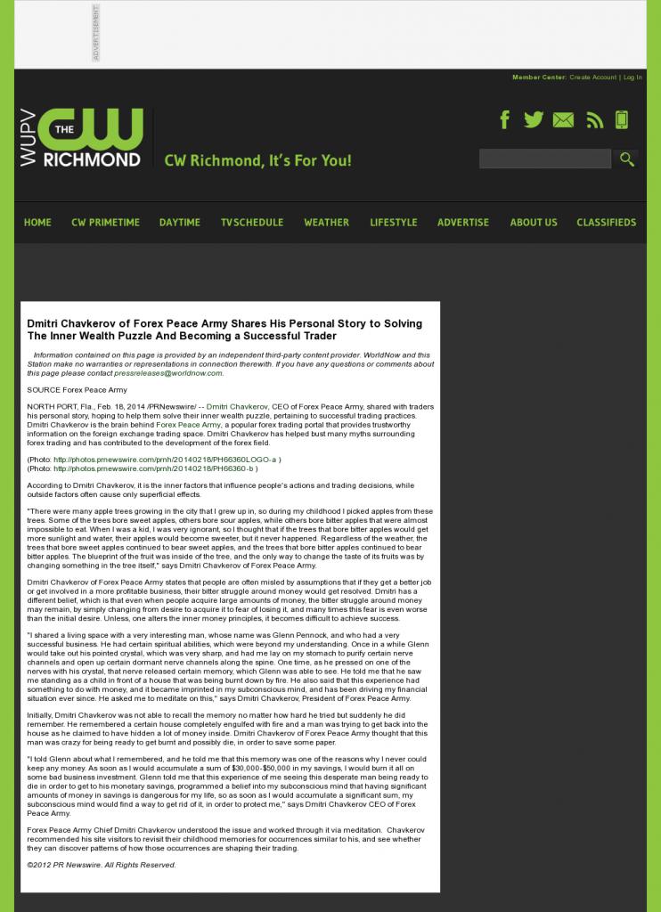 Dmitri Chavkerov Suggests to Analyze Childhood Memories | WUPV-TV CW-65 (Ashland, VA)