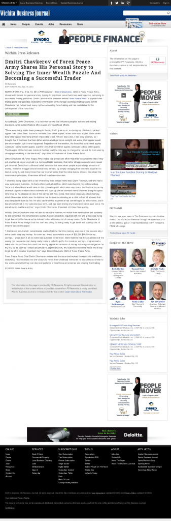 Dmitri Chavkerov Suggests to Analyze Childhood Memories   Wichita Business Journal